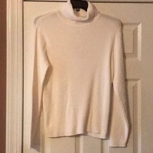 Westbound Whiteness Ribbed Knit Turtleneck